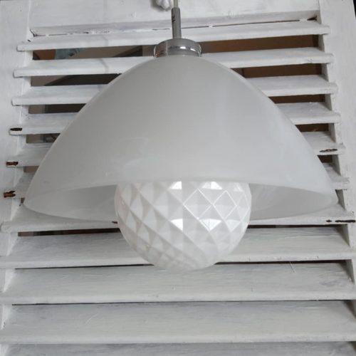 Marmoreret glaslampe