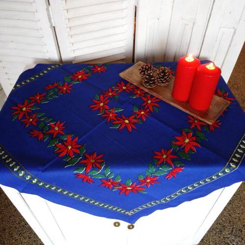 blå juledug