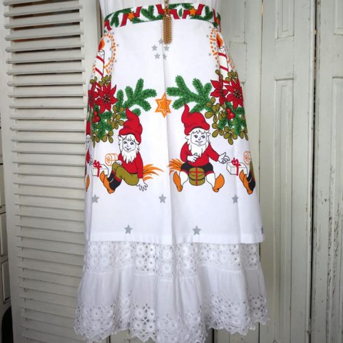 juleforklæde med bindebånd