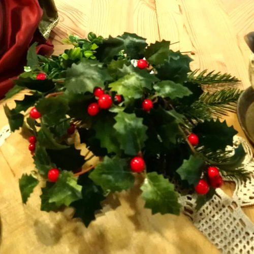 Kristtjørn gren med røde bær