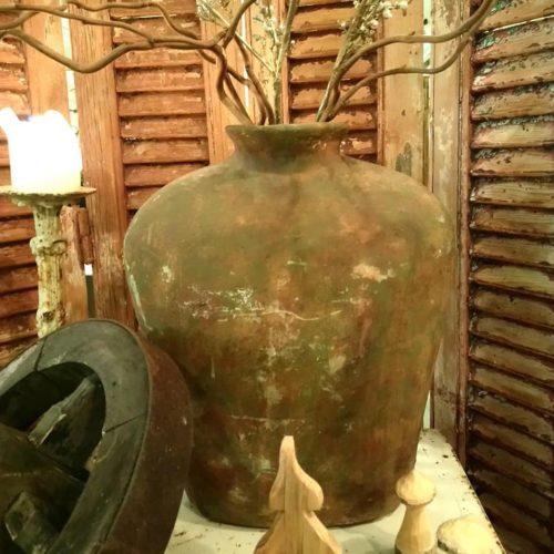 Gulvase i keramik rustik