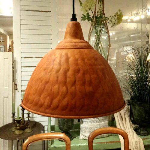Loftlampe metal dyb orange