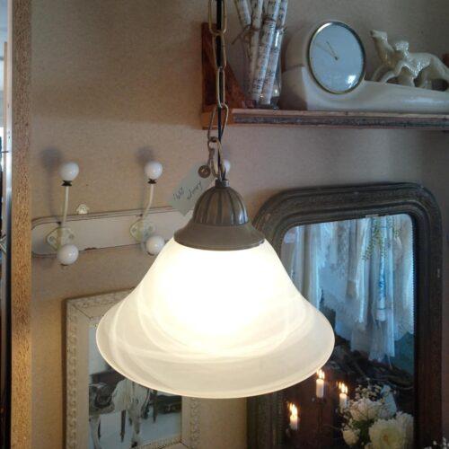 Loftlampe marmoreret glas