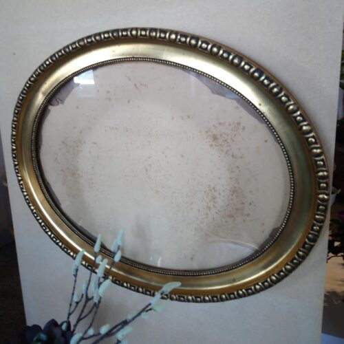 Oval guldramme
