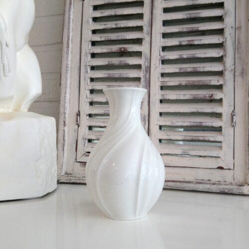 Gammel Lyngby hvid vase