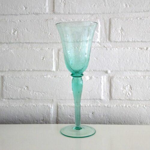 Grønt glas med bobler