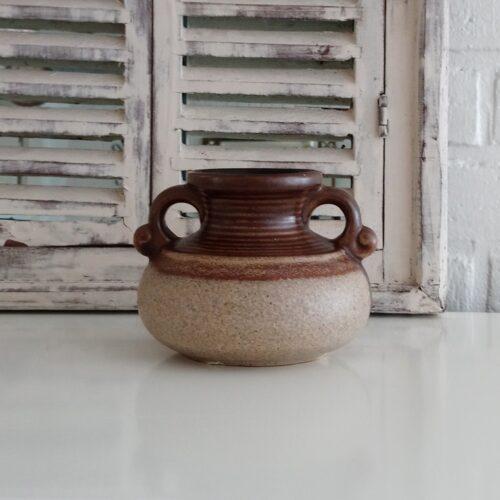 Keramik krukke brun/beige