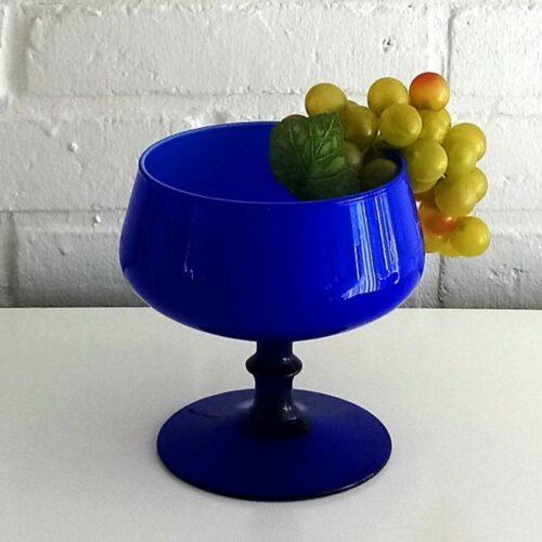 Skøn blå glas opsats