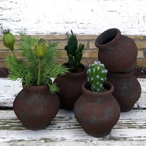 Rustikke keramik krukker