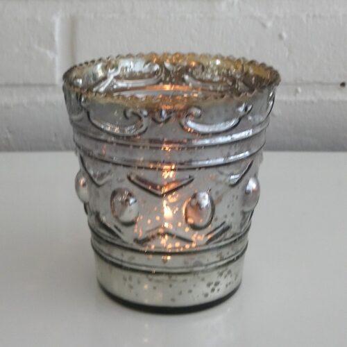 Sød glaspotte med mønster