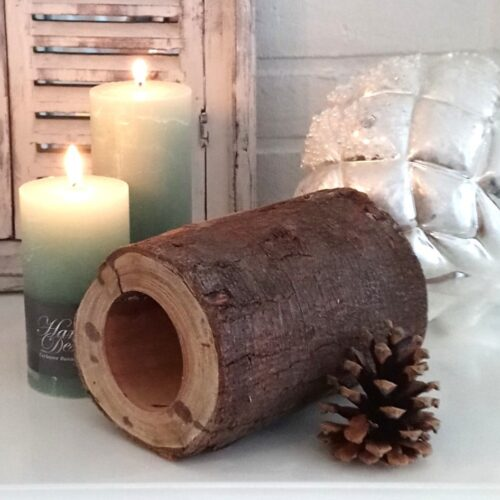 Skøn træstub med hul