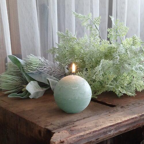 Rustikt pastelgrønt kuglelys