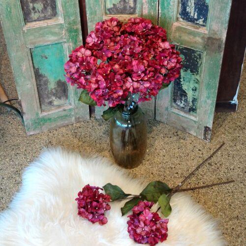Rød Hortensia med glimmer