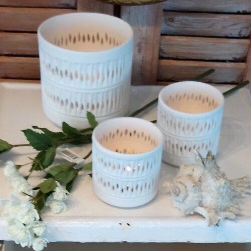 Skønne hvide lanterner