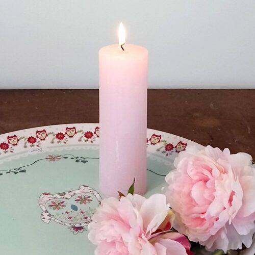 Rustikt bloklys rosa