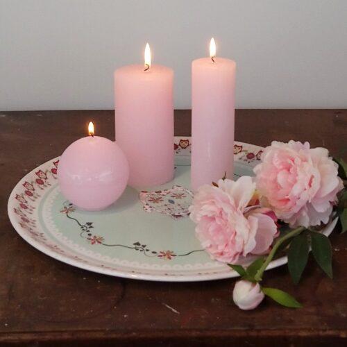 Rustikke bloklys rosa