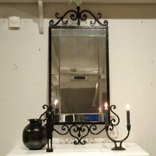 Spejl sort støbejern