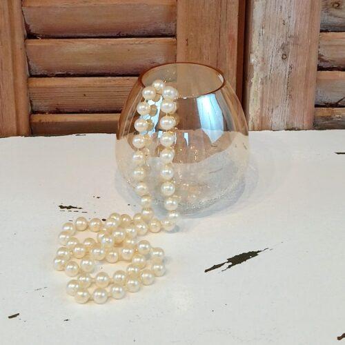 Perlekæde elfenbensfarvet