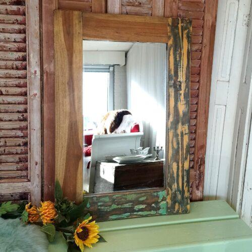 Stort rustikt spejl
