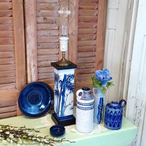 Smuk blå keramik