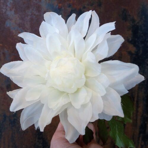 Dahlia hvid naturtro