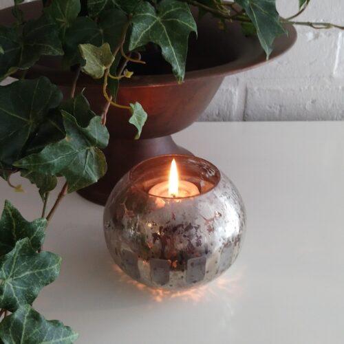 Fyrfadstage rustikt glas