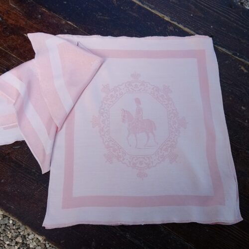 Smukke rosa stofservietter