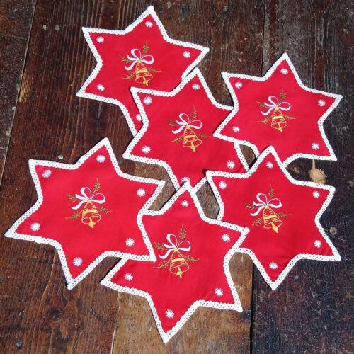 Røde jule mellemlægsservietter