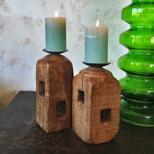 Træstager til bloklys
