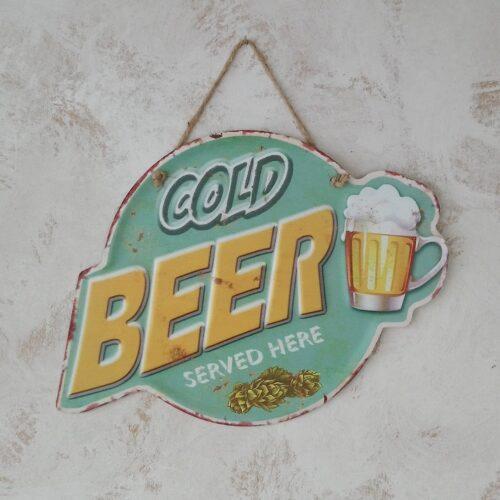 Metalskilt Cold Beer