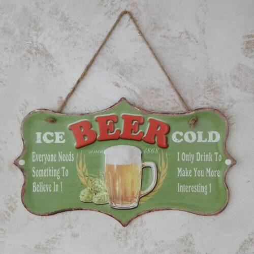 Metalskilt Ice Cold Beer
