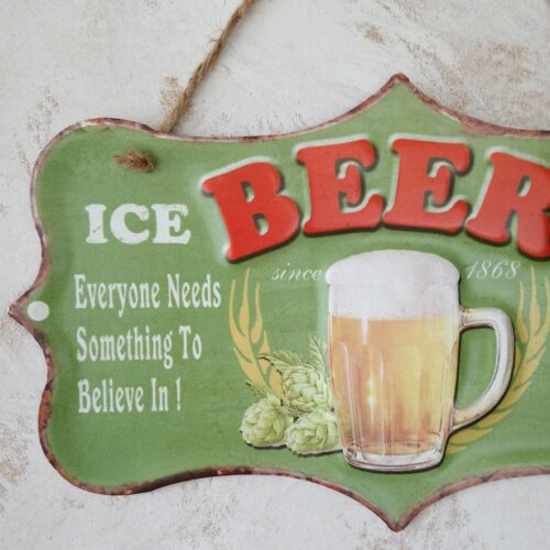 Ice Cold Beer metalskilt