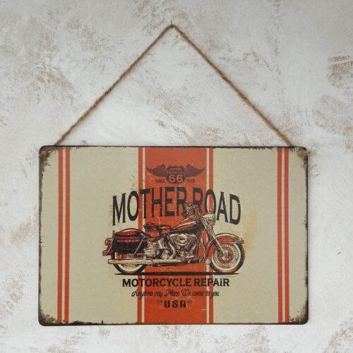 Metalskilt Mother Road 66