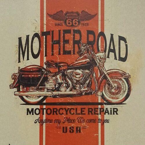 Mother Road 66 metalskilt