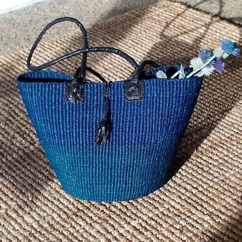 Afrikansk taske/kurv blå