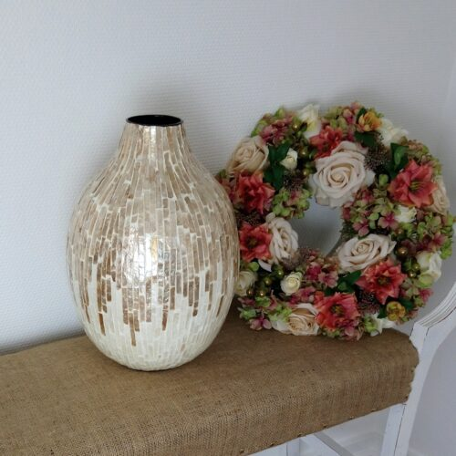 Elegant stor vase med perlemor