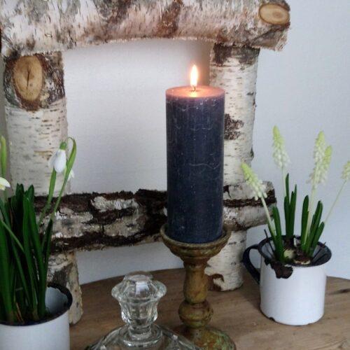 Koksgrå rustikt bloklys
