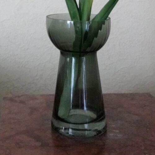 Aqua smoke Hyacintglas