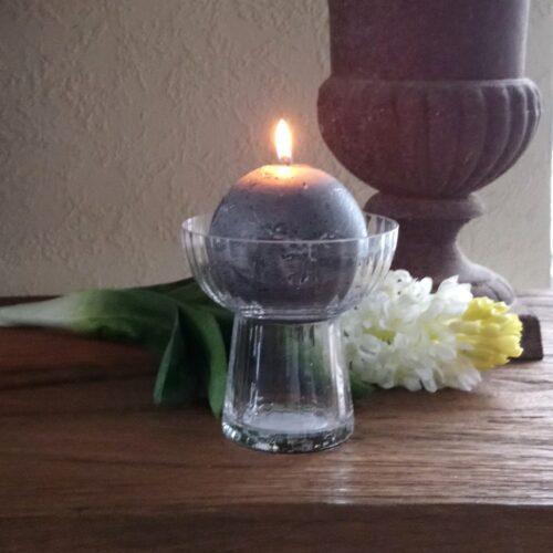 Hyacintglas med smuk rillet effekt