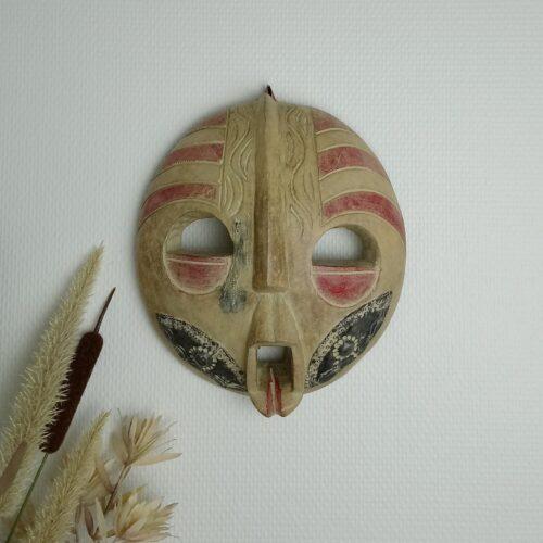 Afrikansk rund maske i træ