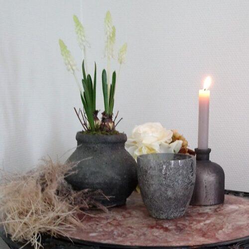 Rustikt glas og keramik