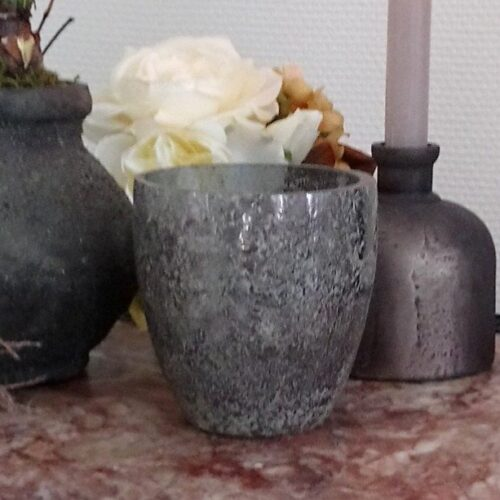Rustik glaspotte koksgrå