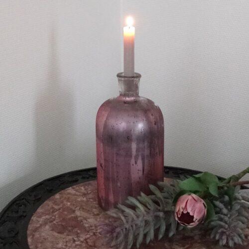 Stor rosa flaske