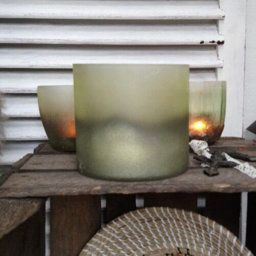 Rustik stor grøn galspotte
