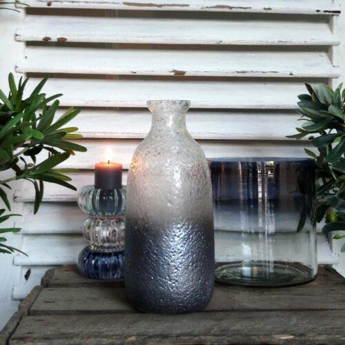 Rustik glasflaske blågrå