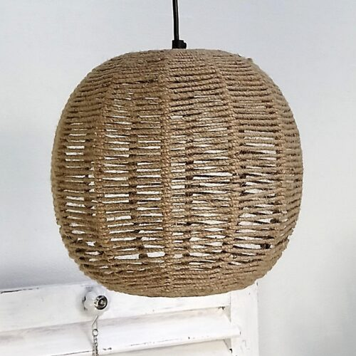 Jute lampe smuk rustik