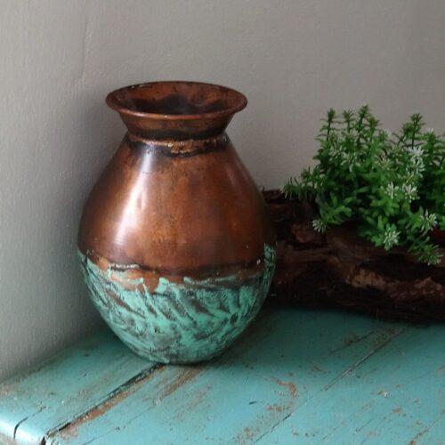 Rustik vase i kobber