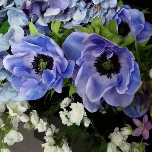 Anemoner blå 43 cm