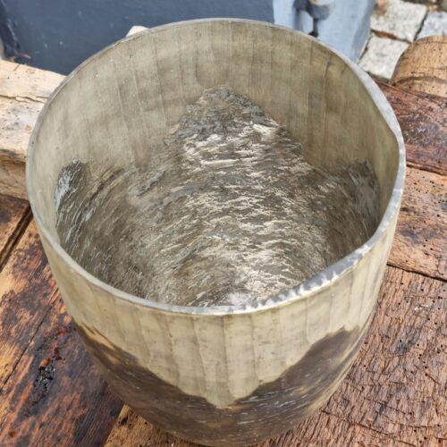 Glasvase gylden/brun stor