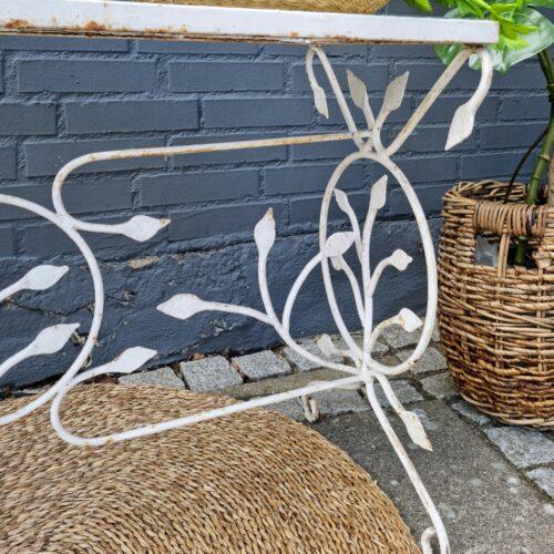 Blomsterbord i jern/råglas